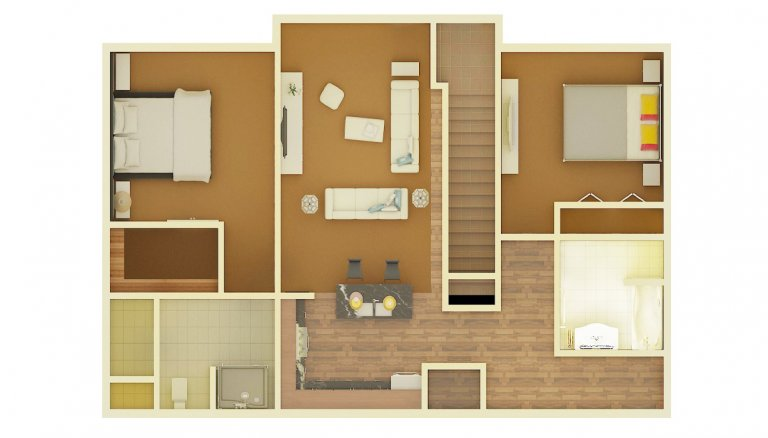House 2D Floor Plan